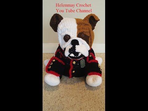 Crochet Amigurumi Bulldog Part 3 of 3 DIY Tutorial - YouTube