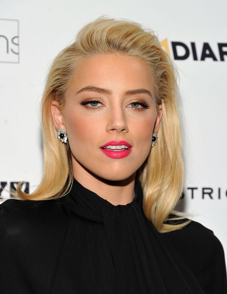 Ultra sexy Amber Heard ...Snappy Hairstyles... She played Agent Vivi in 3 Days to Kill (2014)