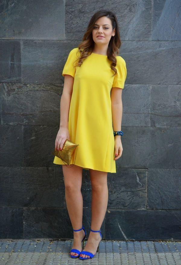 Excelentes vestidos de moda color amarillo | Moda 2016