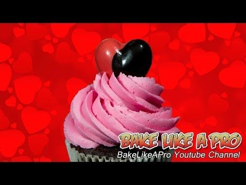Valentine's ButterCream Frosting Recipe  Easy, fluffy frosting, made in just minutes.  Smooth, creamy, fluffy, and firm enough to pipe and will hold its shape easily.  Thanks for watching !  Please subscribe, like and share if you can, I do appreciate it.  My Facebook Page: http://www.facebook.com/BakeLikeAPro My Twitter: http://twitter.com/BakeLikeAPro