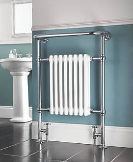 Screwfix Bathroom Radiator Chrome 952 x 659mm 1699BTU 61343 Supplied with brackets, wall fixings, plug and vent. http://www.comparestoreprices.co.uk/january-2017-9/screwfix-bathroom-radiator-chrome-952-x-659mm-1699btu-61343.asp
