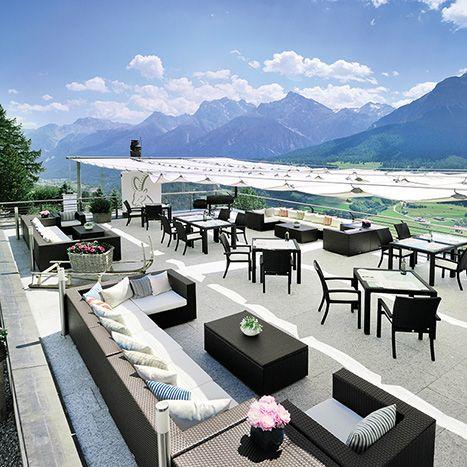 Hotel Paradies Hideaway Resort. Restaurant and hotel in the mountains. Switzerland, Ftan. #RelaisChateaux #Winter #Snow #Switzerland