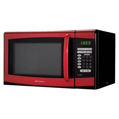 D just brought home a new countertop microwave. We have become so use to having two and I've been wanting a red one to go with other small appliances. Finally found a red one at Target. Looks so pretty and more room on the counter.