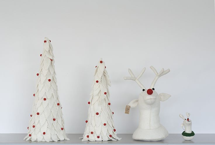 Looking for last-minute gifts? These eco-friendly wool reindeer & trees are handcrafted by artisans in the heart of the Himalayan mountains.: Wool Reindeer, Last Minute Gifts, Eco Friendly Wool