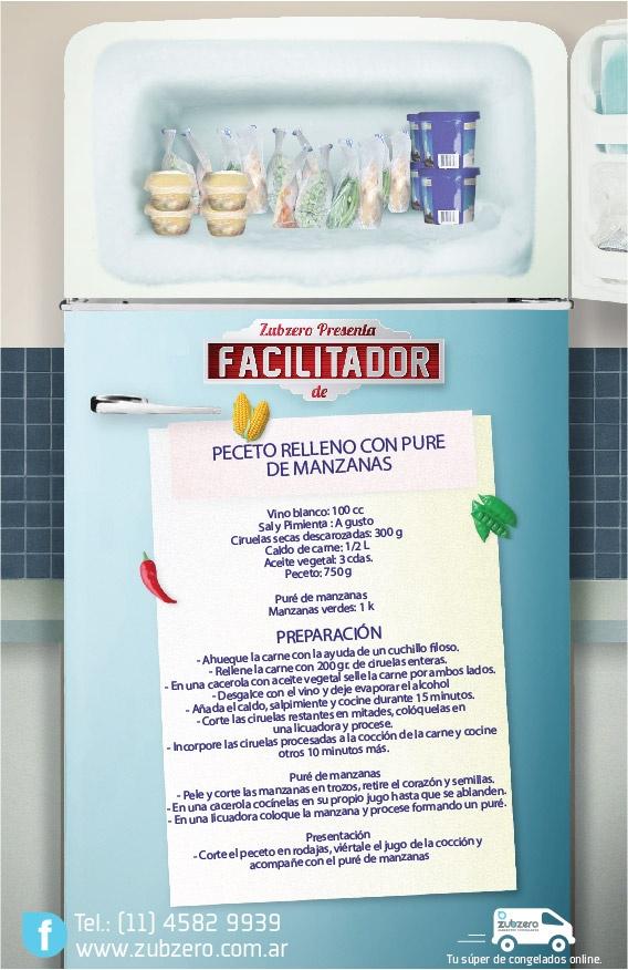 PECETO RELLENO CON PURE DE MANZANAS