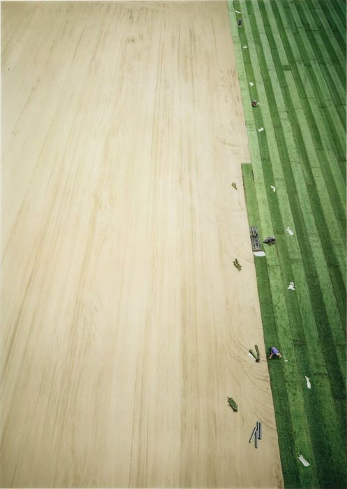 URBAN GARDEN by Andreas Gursky this shows a ordered garden being made, which makes me think Gursky is trying to show that order in nature can only be created with human help