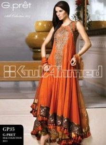 Gul Ahmed Elegant Pakistani Fashion Party Wear Dresses 2013 (3)