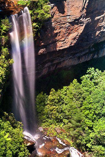 Katoomba Falls Blue Mountains NP in NSW Australia