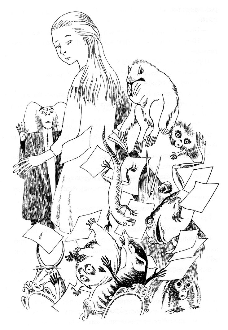 "Tove Jansson - Illustrations for ""Alice in Wonderland"" 52"