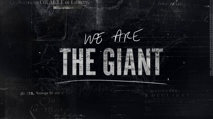 """Titles and graphics for director Greg Barker's documentary, """"We Are The Giant"""", a Passion Pictures & Motto Pictures Production that premiered…"""