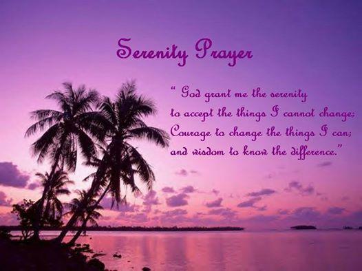Serenity Prayer.