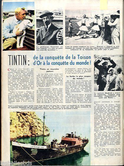 Doc/Clipping (Ref Lim 96819) 10/1961 : CINEMA : TINTIN et la TOISON D OR 1p in Livres, BD, revues, BD, Périodiques, magazines | eBay