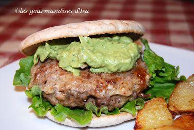 Les gourmandises d'Isa: HAMBURGERS TEXANS ET GUACAMOLE