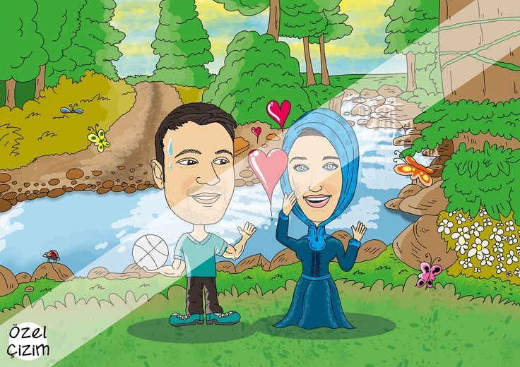 Tanışma hikayesi hediye karikatür :)  #ozelcizim #ozel #cizim #ask #sevgi #tanisma #piknik #yaz #orman #doga #karikatur #hediye #hediyekarikatur #surpriz #komikhediye #sanat