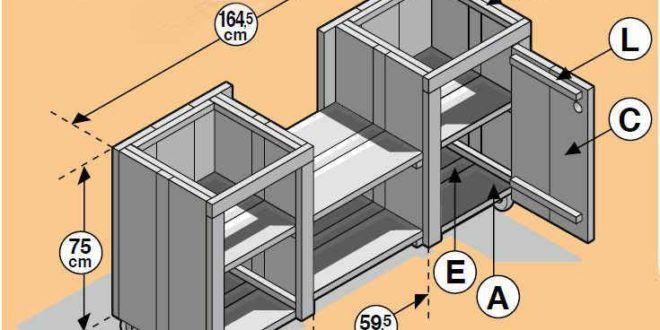 Bauplan #zu # sich # einer # Außenküche #zu #bauen #von #steigerhout.