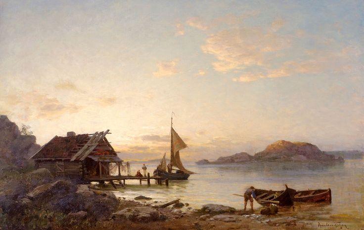 File:Amaldus Nielsen - Aften ved kysten.jpg