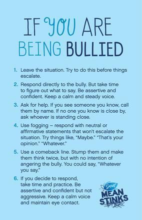 Tips on what to do if you are being bullied