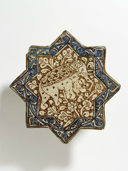 Star-shaped tile, Iran (probably Kashan), early 14th century
