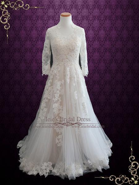 Lace Wedding Dress With Long Sleeves Tenisha Lace