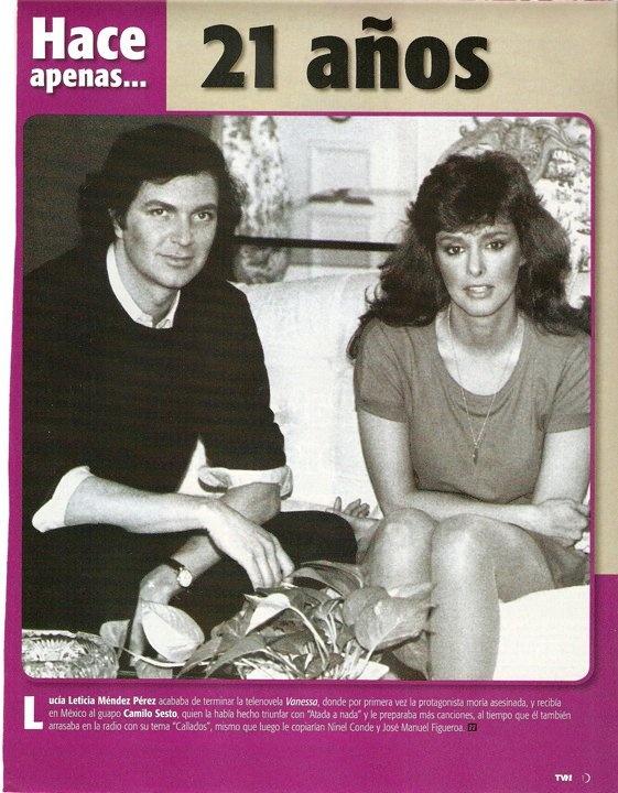 Camilo Sesto y Lucía Méndez.