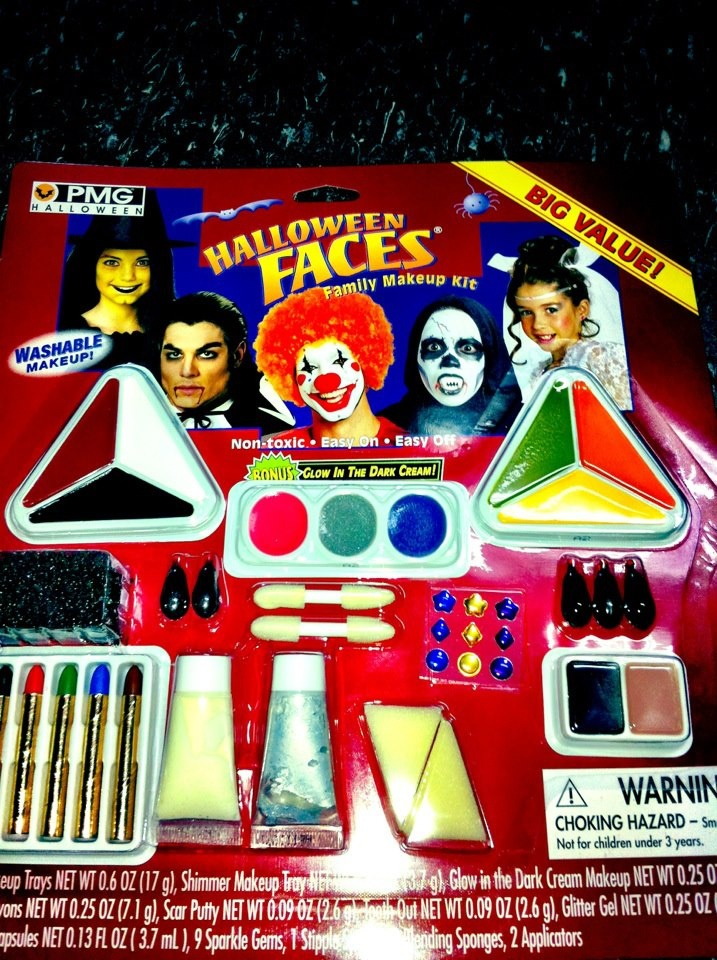 Halloween face paint. different colors and children friendly makeup also available.