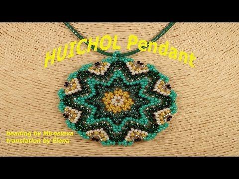 HUICHOL Beaded Pendant. Beading by Miroslava - YouTube