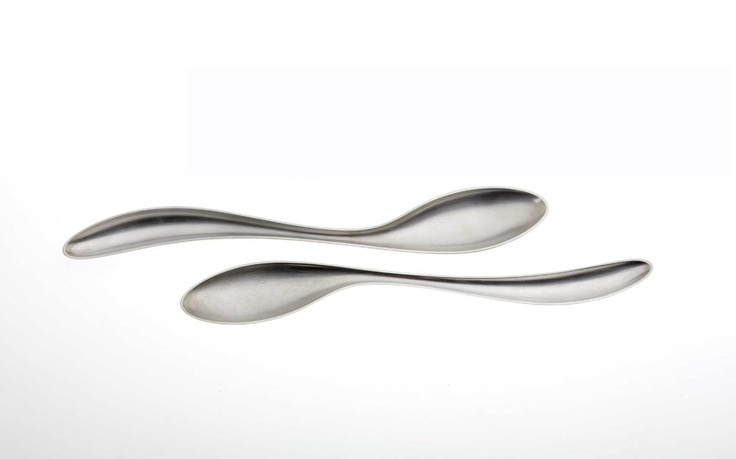 Latte spoons in sterling silver
