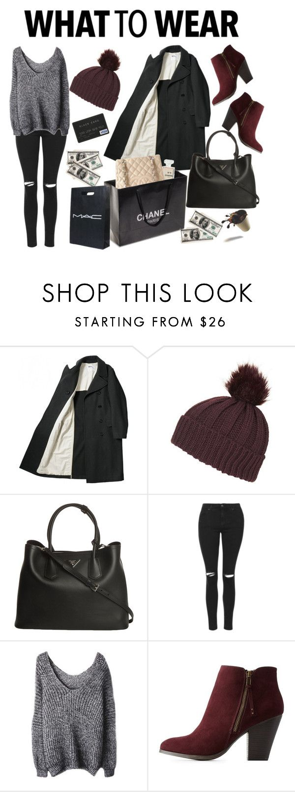 """Black Friday: Comfy & Stylish"" by sherinaaaa ❤ liked on Polyvore featuring Topshop, Prada, Chanel, Charlotte Russe, CO, Original, polyvoreeditorial, polyvorecontest, shoptilyoudrop and polyvoreoriginal"
