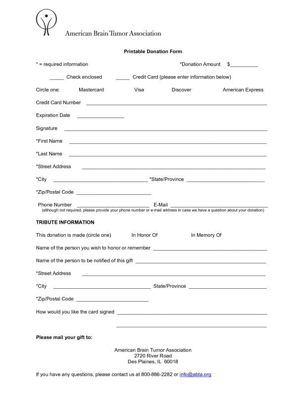 Fundraising Order Form Templates Template