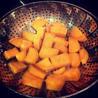 Steamed Sweet Potatoes...the easiest way to make sweet potatoes, and healthiest, in my mind.