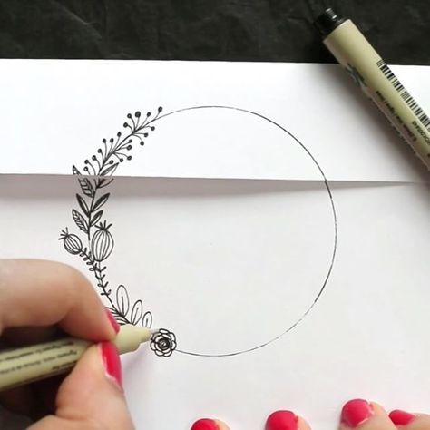 Making a 'wreath' seal. Not sure I'd have the time for this. But what a creative way to personalize envelopes!
