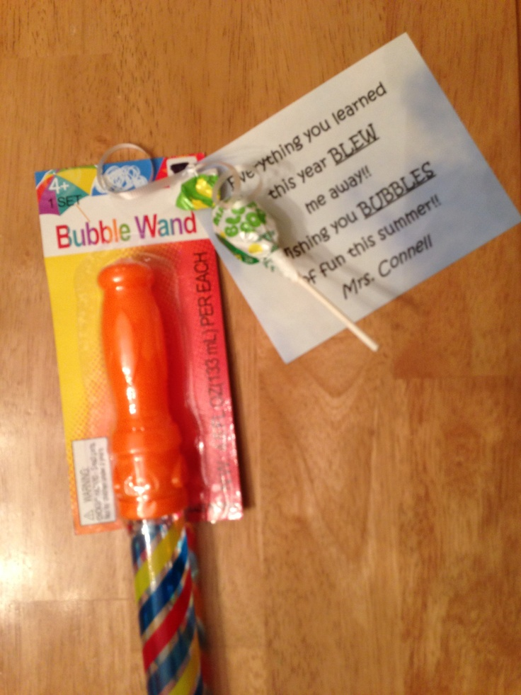 End Of Year Gift Bubble And Blow Pops Teaching Gifts