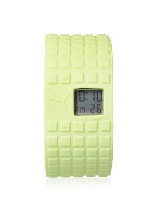 50% OFF PUMA Unisex PU910832007 Cell Neon Green/Grey Silicone Watch