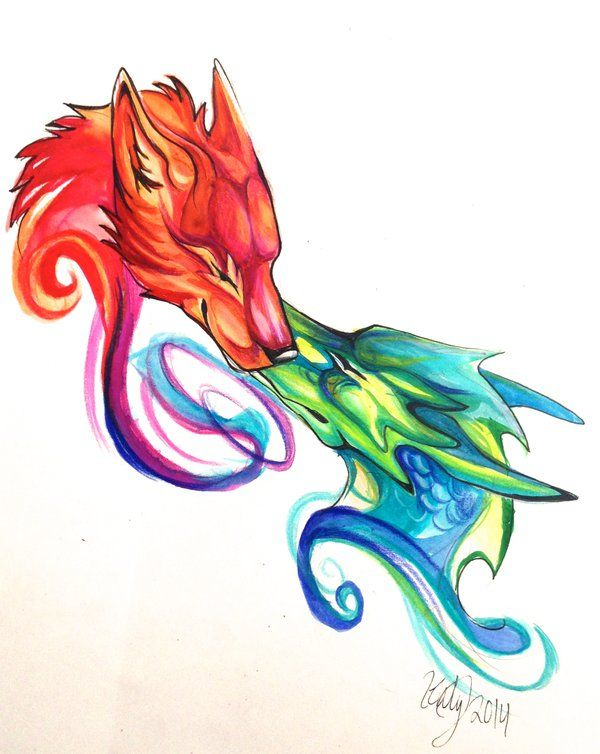 Dragon Wolf Design by Lucky978.deviantart.com on @deviantART