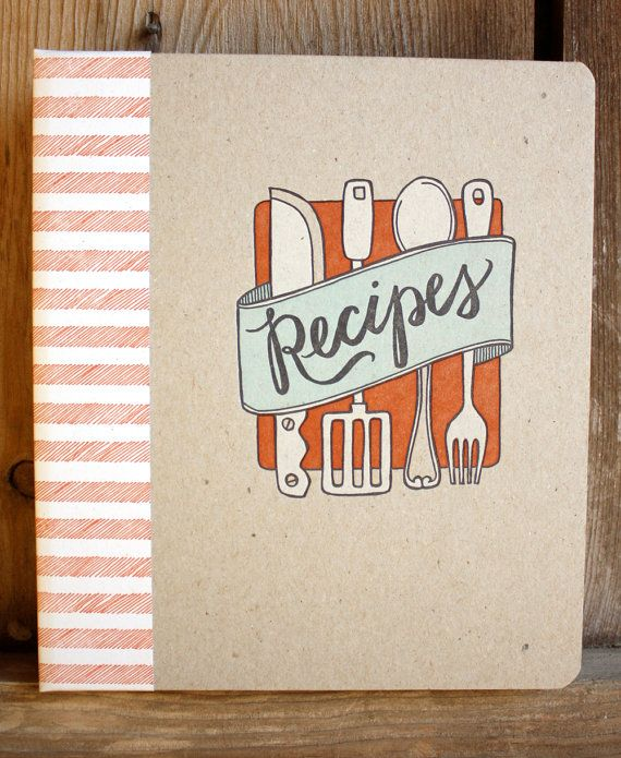 An heirloom-worthy letterpress recipe binder or book. Imagine writing your most prized recipes in our letterpressed binder and passing it on to your