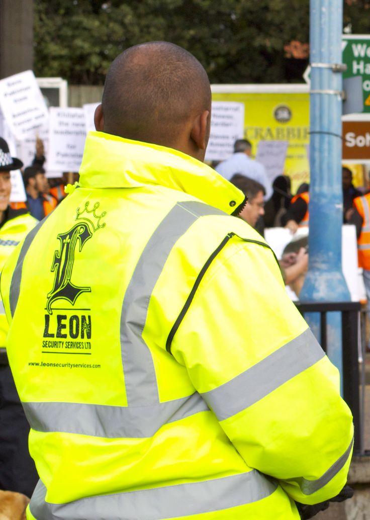 Leon Security Guard At A Public Event In Birmingham