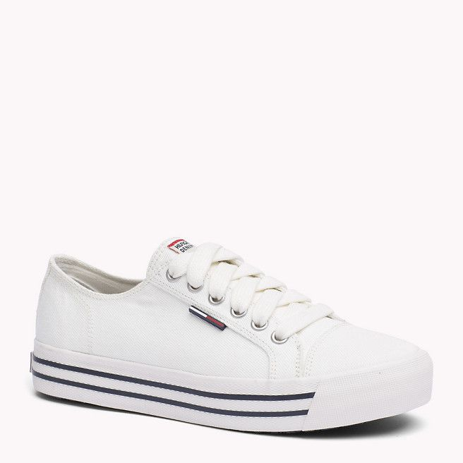 Tommy Hilfiger Denim Sneaker - whisper white (Wit) - Tommy Hilfiger Sneakers - detailbeeld 0