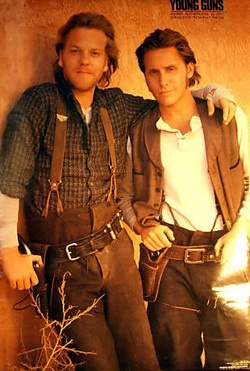 Kiefer Sutherland and Emilio Estevez~I had the really big poster of this one.