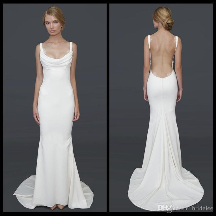 Sexy Wedding Dresses 2017 Julie Vino Beach Sheath Sweetheart Modest Backless Plus Size Custom Made Simple Satin Bridal Gowns Wedding Dresses Vintage Inspired Wedding Dresses With Ruching From Prommuse, $113.37| DHgate.Com