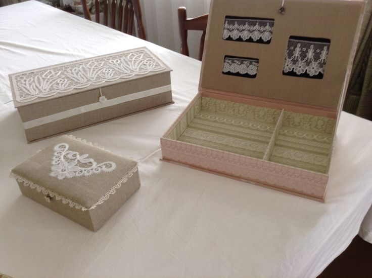 CANCELLED: Lace Decorated Boxes--Coralville Convention 2015: Make a box decorated with your lace. Kit: $10 includes the prepared carton. 6 hrs. TH802 (Kumiko Nakazaki)