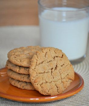 Whole Wheat Peanut Butter Cookies - I used flax instead of an egg, and I added a few chocolate chips. Otherwise, folllowed the recipe (even used Jif, though creamy) YUMMY!!