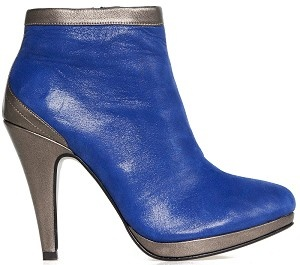 Boot ankle glamour blue leather bronze