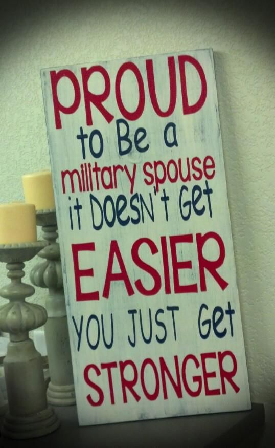 It doesn't get easier.. you get stronger - Sign.  Life of an Army wife!  ** Custom Made By Kara's Custom Memories ** To order visit my FB... www.facebook.com/kcmcreativememories