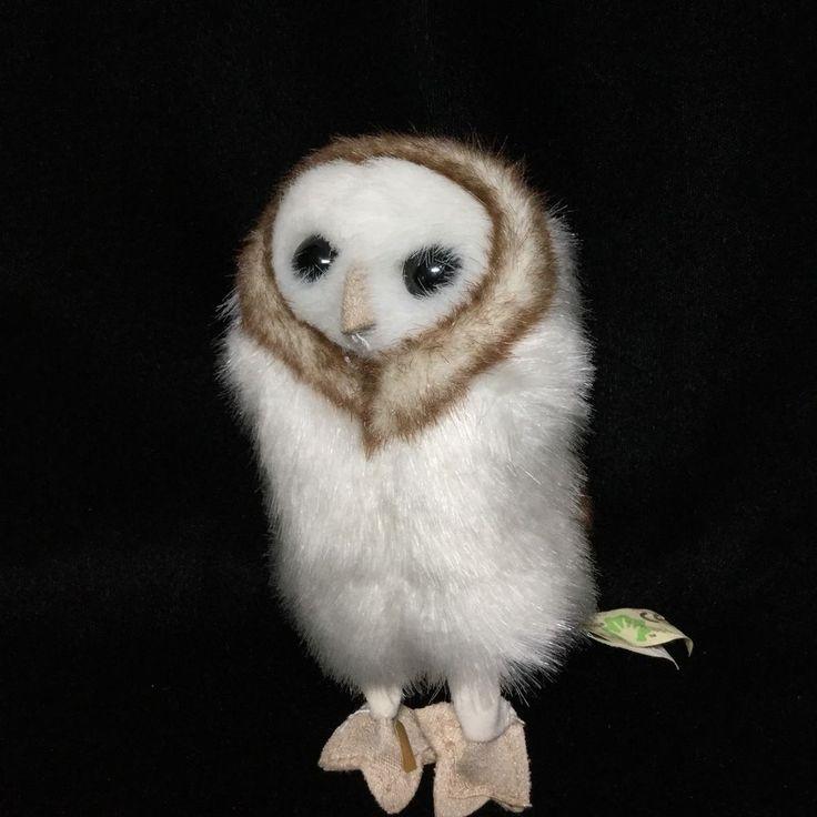 "Folkmanis Mini Barn Owl Finger Puppet Plush Soft Toy 5"" White Brown  #Folkmanis"
