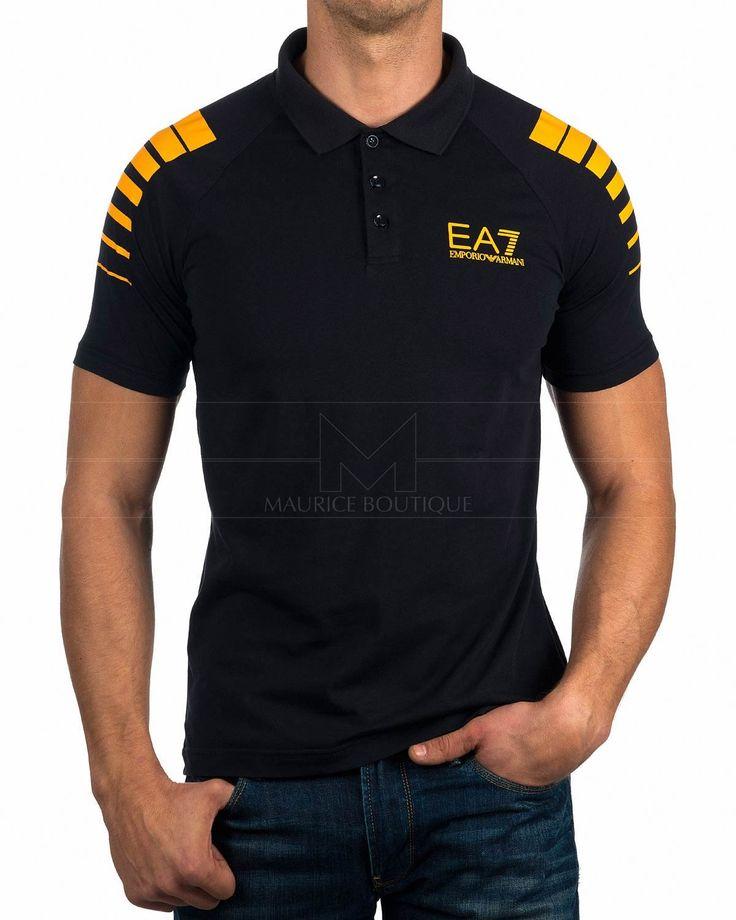 Polos Armani EA7 ® Marino & Orange | ENVIO GRATIS