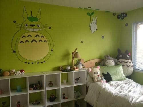 42 best murales images on Pinterest   Totoro nursery, Child room and ...