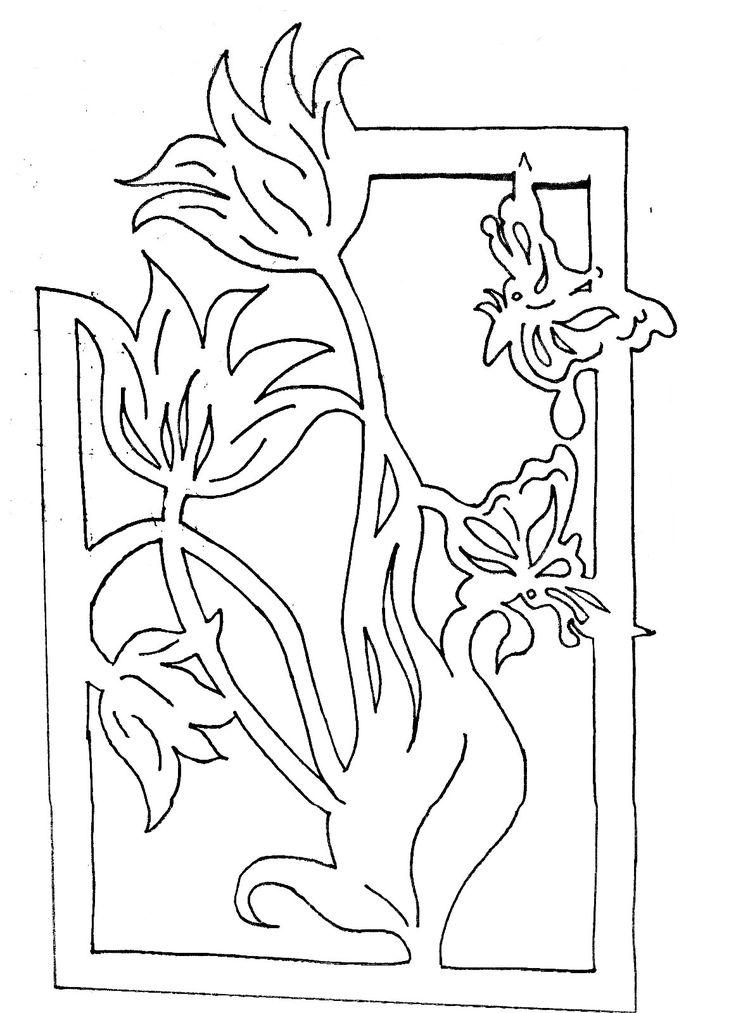 вытынанка к 8 марта шаблоны схемы трафареты цветы,