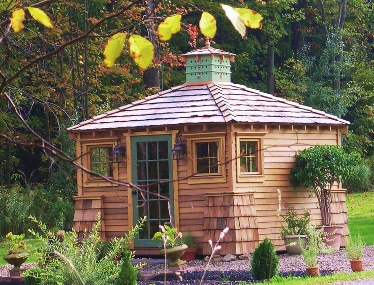 artistic garden shed ~ would be a cute studio!: Garden Sheds, Garden Ideas, Building, Potting Sheds, Outdoor, Greenhouses, Gardens, Photo