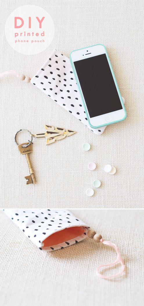 DIY: phone pouch