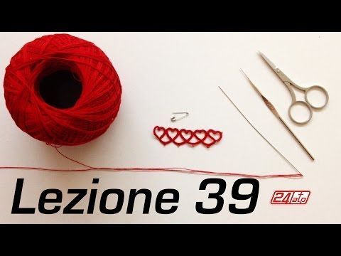 Chiacchierino Ad Ago 42˚ Tutorial Come Fare Tecnica Square Block Bracciale Nefertiti Needle Tatting - YouTube